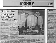 Image of Birmingham News story: City law firm scoring wins in big-stakes securities cases